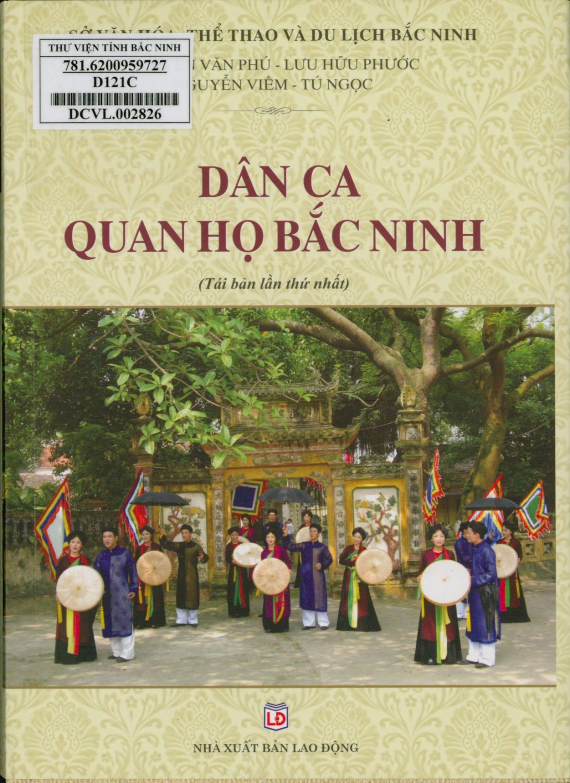 Dân ca quan họ Bắc Ninh