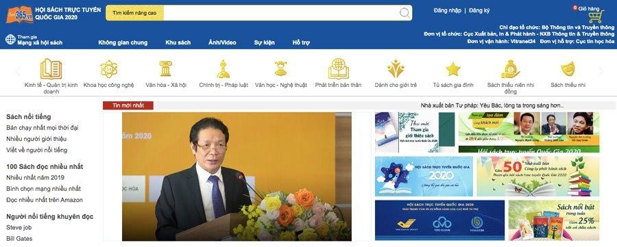 Chính thức khai mạc Hội sách trực tuyến quốc gia 2020 trên Book365.vn